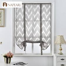 kitchen short curtains window treatments curtain roman blinds jacquard striped curtains home textile decorative cafe curtain