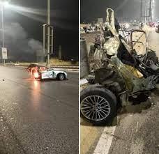 انقسمت العربية نصفين… مصرع وإصابة 5 بحادث السويس_القاهرة - موقع مصر الإخباري