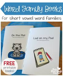 Word Families Template Word Families Booklets Magdalene Project Org