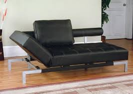 Black faux leather sofa Mainstays Sleep Solutions Iris Futon Sofa Bed Lounger In Brown Or Black Faux Leather