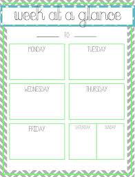 Week At A Glance Calendar Template 9 Best Photos Of Free Printable Week At A Glance Template