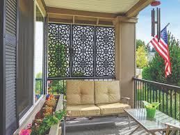 decorative screen panels add privacy