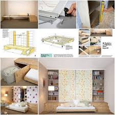 small room furniture solutions. Hidden-bed-small-rooms Small Room Furniture Solutions