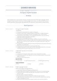 Translator Resume Samples Templates Visualcv