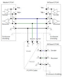 cp340 cp341 multi station polling based on ascii driver protocol 2 actual wiring diagram for hardware