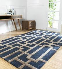 abstract pattern wool and viscose 8 x 5 feet hand tufted carpet by jaipur rugs