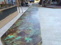 blue stained concrete patio. Tropical Waters Over A Acid Stain Countertop And Rust Youtube Blue Stained Concrete Patio Turquoise U T