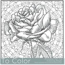 Flower Coloring Pages Cool Coloring Pages For Adults Pdf Pages To