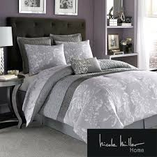 purple and grey comforter sets dark purple wall paint bedroom with 7 piece miller fl silver