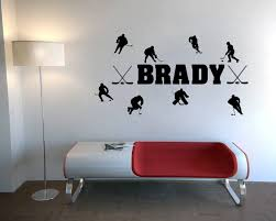 custom personalized match ice hockey wall stickers es home design ideas of funny wall decals
