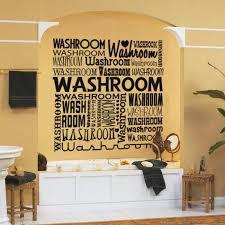 large bathroom wall decal