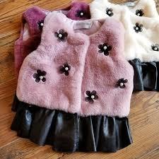 new wool children sweater autumn winter baby girl fur ball flower pu leather vest outwear coat fleece vest boys little boy vest from okbaby 44 23 dhgate