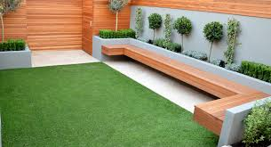 Small Picture Modren Garden Seating Bamboo Around Wooden Bench In Area Stock