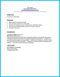 Resume For Teller Position Bank Teller Resume Sample Teller