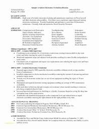 Resume For Electronic Assembler And Electronic Cover Letter Format