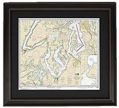 Amazon Com Patriotgearcompany Framed Nautical Chart 18448