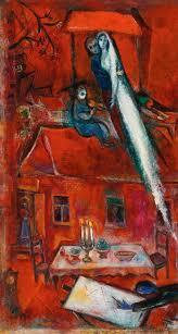 crépuscule ou la maison rouge 1948 marc chagall