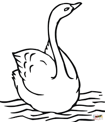 Small Picture Swimming Swan coloring page Free Printable Coloring Pages