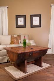Wine Barrel Kitchen Table Barrel Distressed Finish Coffee Table