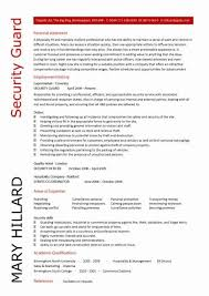 Security Officer Resume Enchanting Security Guard Resume Example Detail Security Officer Resume Sample