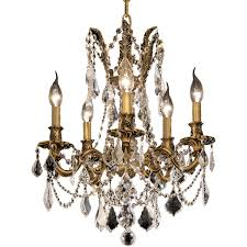 5 light french gold color frame high quality empire chandelier this chandelier has swarovski crystals that sparkle like jewels ht 19 x wd 18