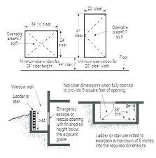 Egress Window Size Chart Egress Window Size Calculator Granjaintegral Co