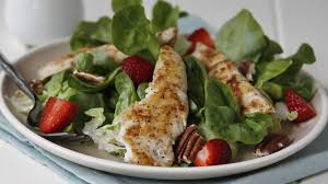 grilled chicken salad with strawberries. Perfect Grilled Fast And Easy Grilled Chicken Salad With Strawberries Pecans In With I
