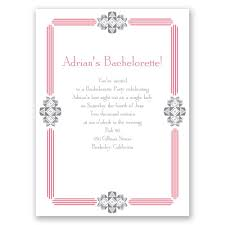 bachelorette party invite bling border bachelorette party invitation invitations by dawn