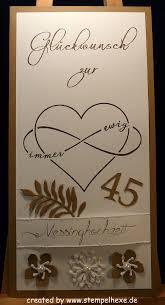 45 Hochzeitstag Messinghochzeit Stampin Stempelhex Hochzeit