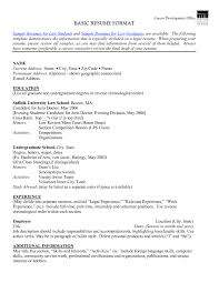 Gallery Of Resume Basic format Science Teacher Resume format Educational Sample  Resume format