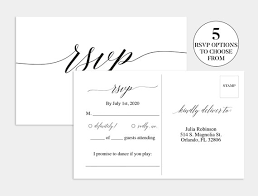 Reply Card Template Wedding Rsvp Card Wedding Rsvp Template Wedding Rsvp Etsy