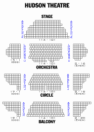 The Music Box Theater Seating Chart Hudson Theatre Seating Charts O Theater Seating Chart