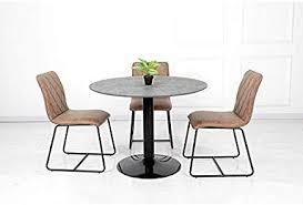 Amazonfr Table Ronde Avec Pied Central Cuisine Maison