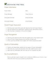 Post Project Review Template To Cool Post Project Report Template