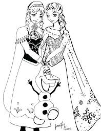 Small Picture Coloring Pages Of Elsa And Anna From Frozen Coloring Pages Ideas