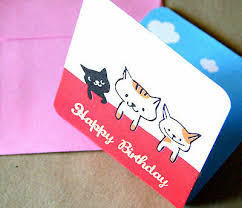 6 X Small Kitten Cat Birthday Cards Childrens Birthday