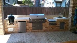 stunning outdoor refrigerator this outdoor kitchen by outdoor of features from left a big green egg