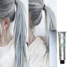 hair dye cream fashion gray hair color dye diy hair styling light gray color permanent natural