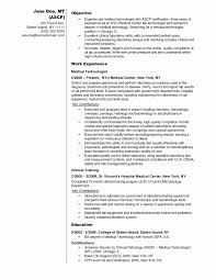 Medical Laboratory Assistant Cover Letter Lovely Resume For Lab