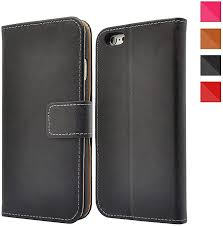 Apple iPhone Genuine Leather Case, Premium Leather <b>Wallet Case</b> ...