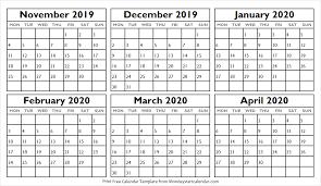 Blank Dec 2020 Calendar Calendar 2019 Nov Dec 2020 Jan Feb Mar Apr Blank Calendar