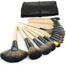 24pcs set professional makeup brush set tools make up toiletry kit wool brand make up case cosmetic brush