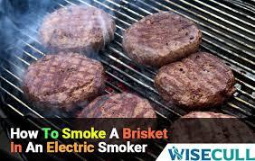 smoke a brisket in an electric smoker