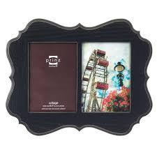 2 opening picture frame 2 opening black veneer wood collage frame 5 by 7 2 opening 2 opening picture frame