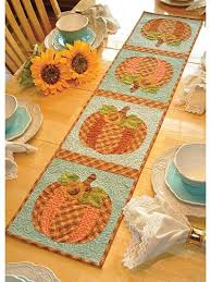 Autumn & Halloween Quilting Patterns - Page 1 & Vintage October Table Runner Pattern Adamdwight.com