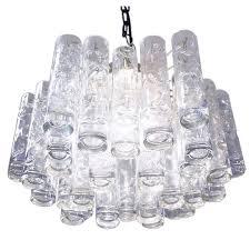 murano glass flush mount chandelier by doria germany 1960s