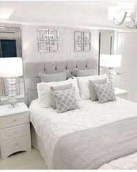 silver and white bedroom decor. Fine And Love The Matching Mirrors Above Night Stands Casa Linda  Master Bedroom Home Inside Silver And White Bedroom Decor