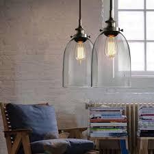 6 9 bell glass industrial vintage pendant light edison loft chandelier lamp