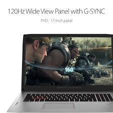 ASUS ROG Strix G-SYNC 120Hz VR Ready Thin and Light Gaming Laptop GTX 1070  8GB Core i7-7700HQ 16GB 512GB SSD 1TB HDD, 17.3