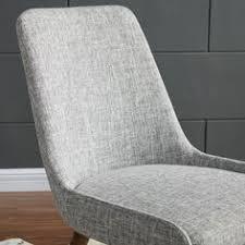 mia mid century grey fabric dining chairs set of 2